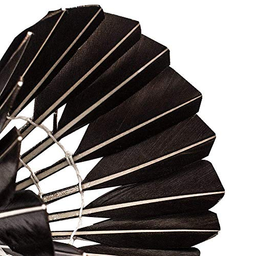 KEVENZ 12-Pack Advanced Goose Feather Badminton Shuttlecocks,Nylon Feather Shuttlecocks High Speed Badminton Birdies Balls with Great Stability and Durability (12-Pack,Black) by KEVENZ (Image #3)