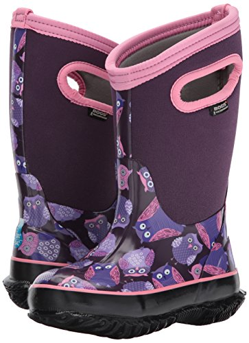 Bogs Baby Classic Owl Snow Boot, Purple/Multi, 10 M US Toddler