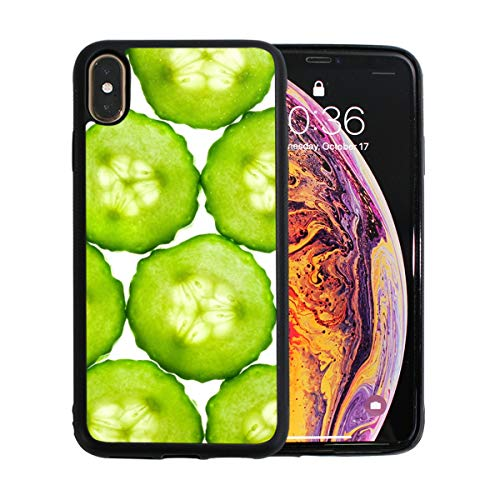 iPhone Xs Max Case,Cucumbers Slice TPU Anti Scratch Protective Cover,Compatible Cell Phone Cases,Printed Shockproof Protector