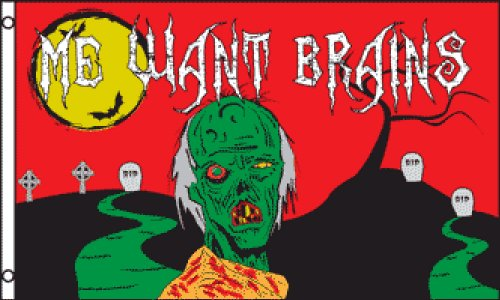 Zombie Halloween 3x5 ft polyester Flag]()