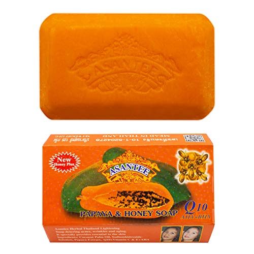 Papaya Soap Skin Whitening and Honey Skin Whitening Facial And Body Soap 125 grams (Exfoliating Papaya)