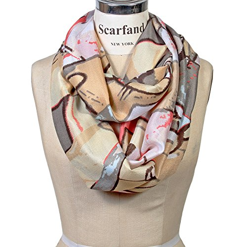 Scarfand Vibrant Painting Artistic Print Infinity Scarf