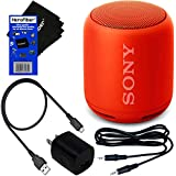 Sony Wireless Portable Bluetooth Speaker (XB10) with Extra Bass & Water-Resistance Design (Red)