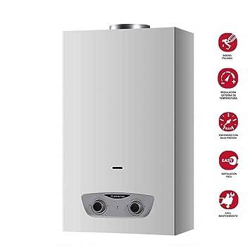 Ariston - Calentador de Gas Instantáneo Butano/Propano 11 Litros - Fast R 11 - Atmosférico - Tiro Natural