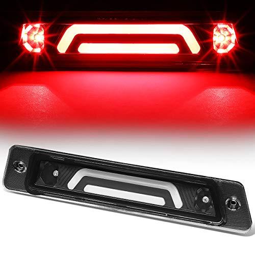 Rear Center 3D LED Bar Third 3rd Tail Brake Light for 87-93 Ford Mustang GT/Cobra Hatchback w/Spoiler (Black)