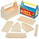 wood kits for kids tool box - Wooden Toolbox Desk Tidy Craft Kits for Children to Assemble Decorate and Give as Father's Day Gift (Pack of 3)