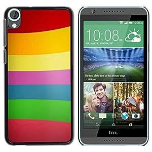 Be Good Phone Accessory // Dura Cáscara cubierta Protectora Caso Carcasa Funda de Protección para HTC Desire 820 // Color Lines Pattern