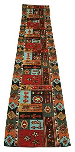 Kinara Western Life Jacquard Southwestern Design Table Runner 13x72 inches]()