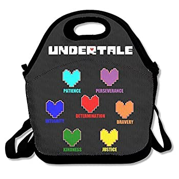 Fox Customzied Undertale Colorful Hearts Soul Multifunction Lunch Tote Bag With Adjustable Straps