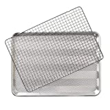 Nordic Ware 43171 2 - Piece Set - Prism Half Sheet w/Oven Safe Nonstick Grid, Aluminum