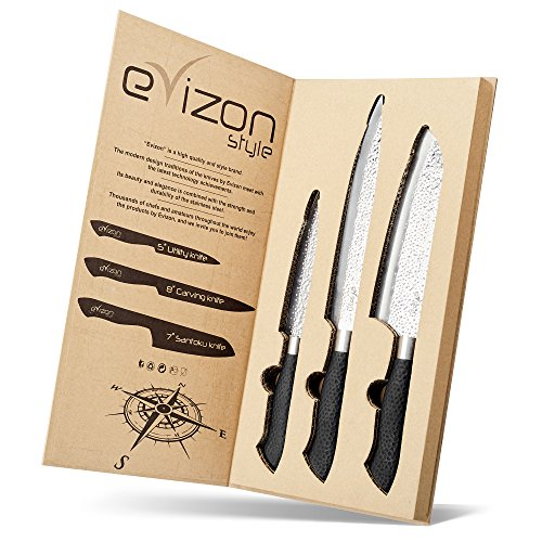 Evizonstyle Chef Knife Set, Set of 3 Super