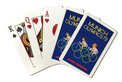 air-india-munich-olympics-72-vintage-poster-playing-card-deck-52-card-poker-size-with-jokers