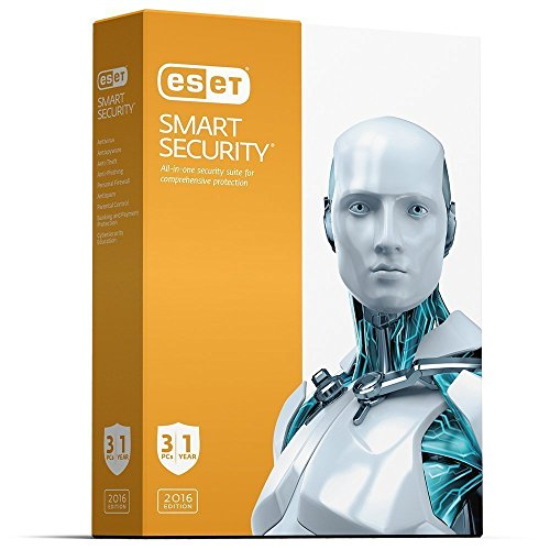ESET NOD 32 Smart Security | 2016 (3 PC's- 1 Year) No...