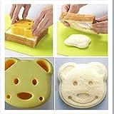 nicebuty 2?x DIY B?r Cookie Ausstechform Sandwich Toast Maker Brot, Form zum Backen Werkzeug