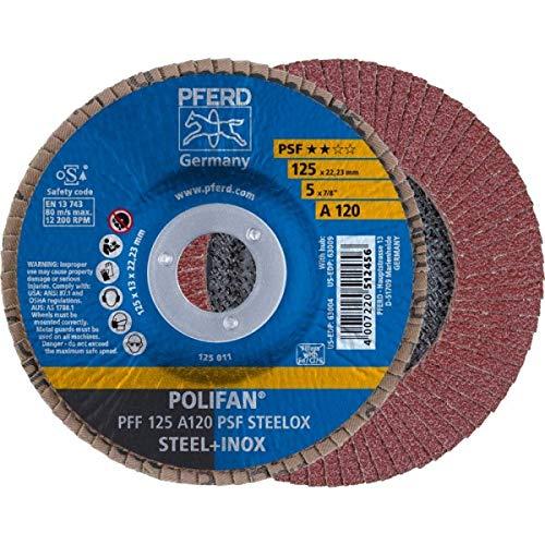 Pferd POLIFAN-Fächerscheibe PFF 125 A 120 PSF STEELOX 67649125 Schleifscheiben Fächerscheiben