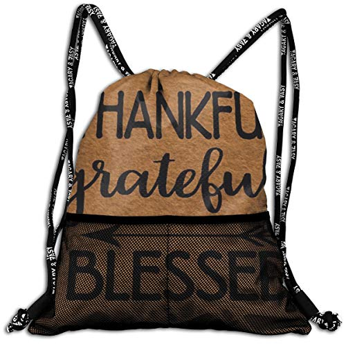 Traveling Sport Gym Beam Bag Thankful Grateful Blessed Beam Backpack Basketball, Volleyball, Baseball Shoulder Bags For Boys Teens Youth Running Camping ()