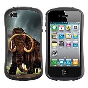 Suave TPU GEL Carcasa Funda Silicona Blando Estuche Caso de protección (para) Apple Iphone 4 / 4S / CECELL Phone case / / Majestic Mammoth /