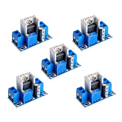 7812 Voltage Regulator - Onyehn 5pcs LM317 Adjustable Voltage Regulator Power Supply DC-DC Step-Down DC Converter Circuit Board Adjustable Linear Regulator 5 Pack