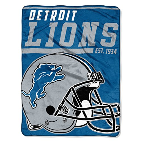 "NFL Detroit Lions 40 Yard Dash Micro Raschel Throw, 46"" x 60"""