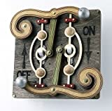 Green Tree Jewelry Double Fulcrum Black Wood Light Switch Plate