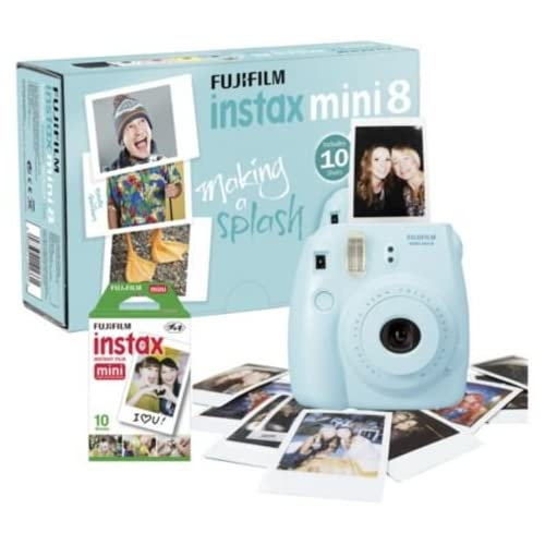 Instax P10GLB3603A Mini 8 Camera with 10 Shots - Blue