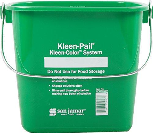 San Jamar KP196KCGN Kleen-Pail Commercial Cleaning Bucket, 6 Quart, Green