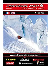Freeride Map Chamonix Sud: Maßstab 1:25 000