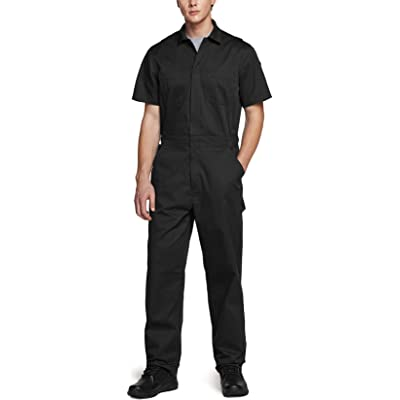 Action Back Jumpsuit with Multi Pockets Twill Stain /& Wrinkle Resistant Work Coverall CQR Mens Short Sleeve Zip-Front Coverall