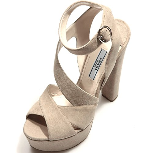 Shoes Prada Sabbia Camoscio Donna Women Sandalo Scarpa 86322 1Xq6wa5x