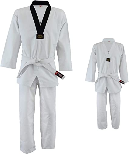 Taekwondo Martial Arts Student Gi with Belt 3 Colors! Lightweight Uniform