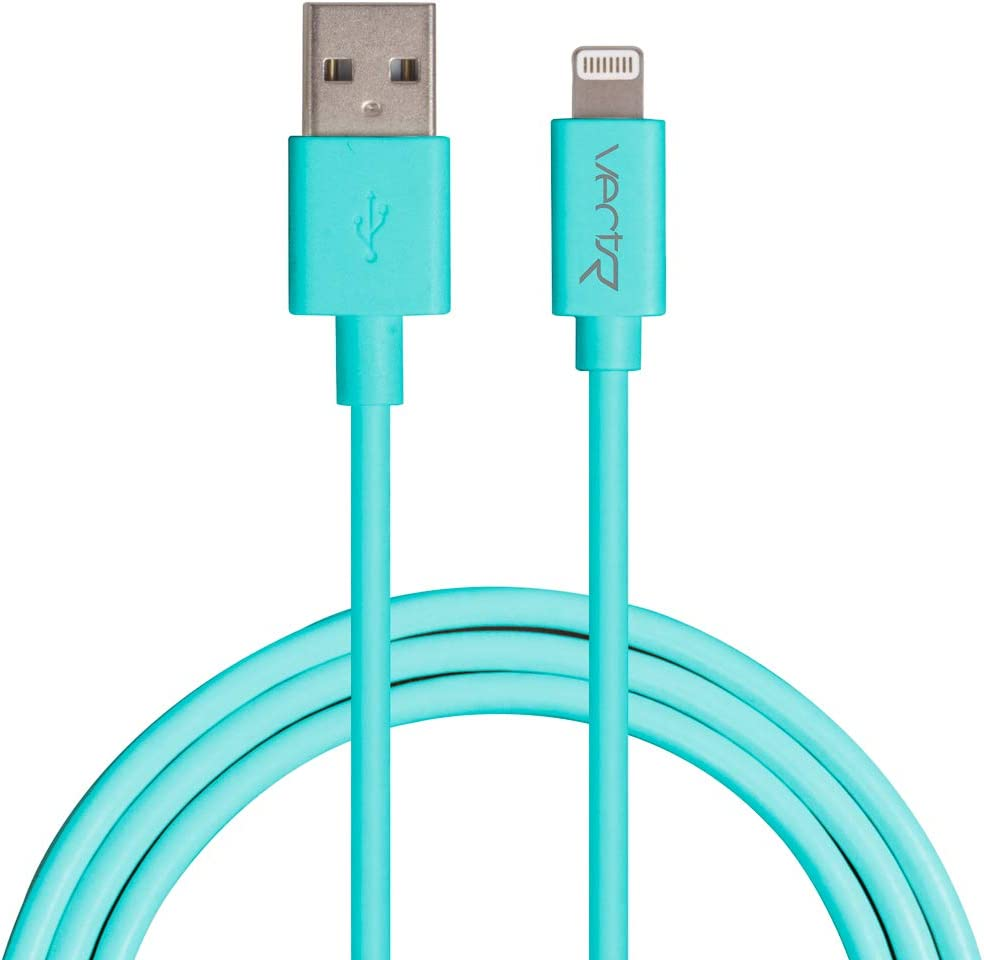 3 Vectr Apple Certified Lighting-to-USB Cable Teal