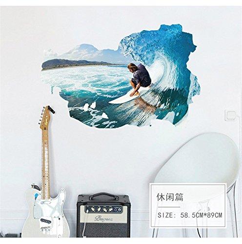 All Surfen 3d Sports Wall Sticker Fur Kinder Jungen Spielzimmer