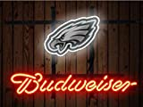 Desung Brand New 14''x10'' B udweiser Sports Team P-Eagles Neon Sign (Various Sizes) Beer Bar Pub Man Cave Glass Neon Light Lamp BW88
