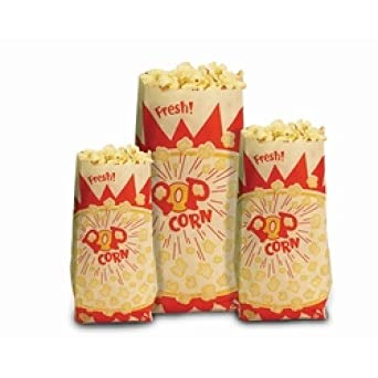 Palomitas de maíz bolsas de papel 1,5 oz x 1000: Amazon.es ...