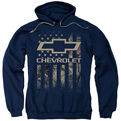 Chevrolet Camo Flag Unisex Adult Pull-Over Hoodie for Men and Women, X-Large from Trevco