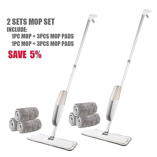 Wbdd Mop Spray Mop con Mafono De Microfibra Reutilizable 360 ...
