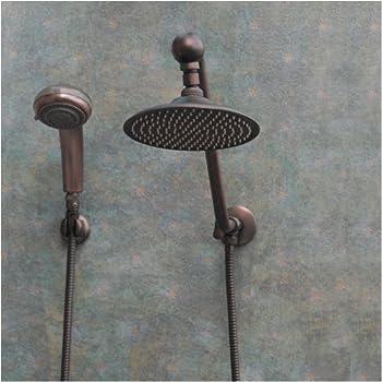 Atlantis 6 Oil Rub Bronze Rain Shower Head Combination