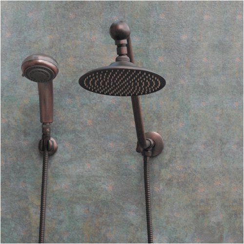 atlantis 6 oil rub bronze rain shower head combination fixed showerheads amazoncom - Rain Shower Heads