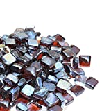 Cheap Mr. Fireglass 1″ Reflective Fire Glass Cubes with Fireplace and Fire Pit, 10 lb, Amber