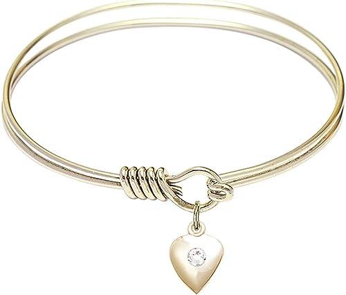 DiamondJewelryNY Eye Hook Bangle Bracelet with a Scapular Charm.