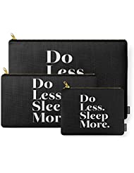 Society6 Do Less Sleep More Carry-All Pouch