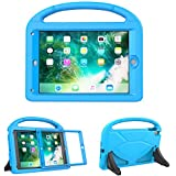 ipad 2 apps - TIRIN Kids Case iPad 9.7 2018/2017 Built in Screen Protector - Light Weight Shock Proof Handle Stand Kids Case Apple iPad 9.7 Inch(2018/2017)/iPad Pro 9.7/iPad Air 2/iPad Air, Blue