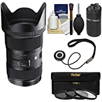 Sigma 18-35mm f/1.8 Art DC HSM Zoom Lens for Canon EOS DSLR Cameras with Pouch + 3 UV/CPL/ND8 Filters + Kit
