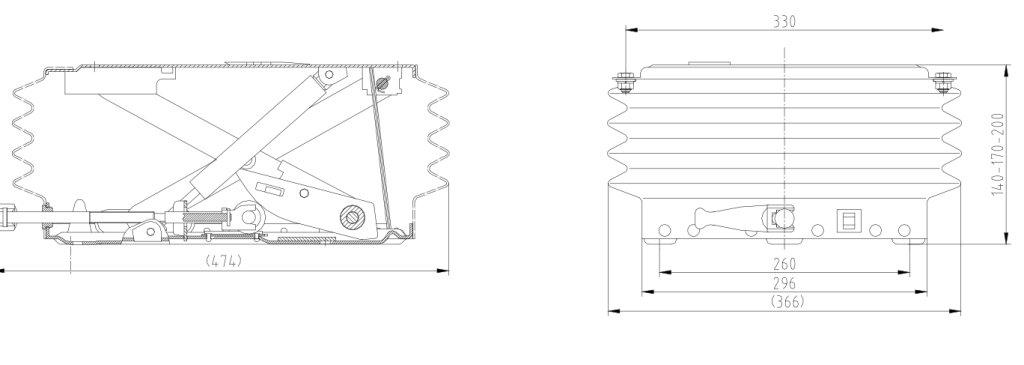 Asiento remolcador regulable a 3/alturas Sistema oscilante de suspensi/ón compatible con Grammer DS CS 85H//90
