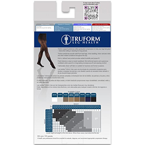 Truform Maternity 15-20 Mmhg Sheer Pantyhose Beige, Queen, 2 Count by Truform (Image #6)