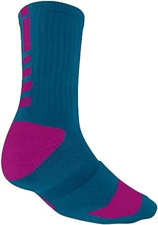 Amazon.com: Nike Elite Cushioned Crew Sock Dri-Fit ...