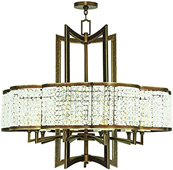 Livex Lighting 50579 64 Gramercy 10 Light Chandelier Hand Painted Palacial Bronze Amazon Com