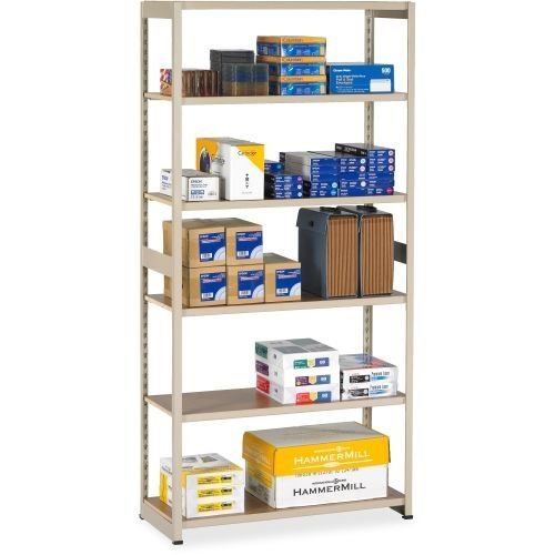 Tennsco RGL1536ASD 36 by 15 by 76-Inch Regal Shelving Add-On Unit with 6 Shelves, Sand ()