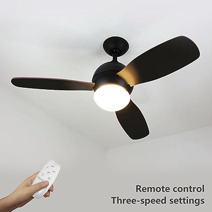 Natsen 42 Led Semi Flush Mount Ceiling Fan Lighting With Remote