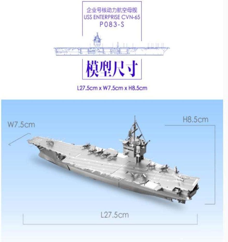 MQKZ Juego de Rompecabezas Tridimensional de Metal en 3D / USS Enterprise CVN-65 / Modelo de Adornos para niños: Amazon.es: Juguetes y juegos